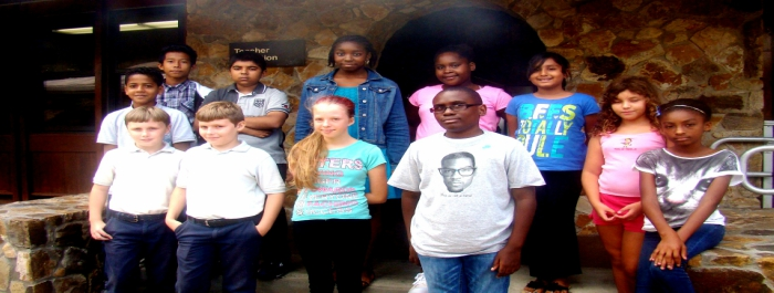 The 2015 CyberCampVI Middle School group in St. Thomas